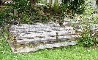Algernon Charles Swinburne - Swinburne's grave at St. Boniface Church, Bonchurch, Isle of Wight, pictured in 2013