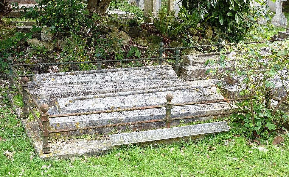 Algernon C Swinburne grave, Bonchurch