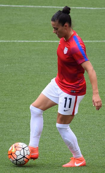 Krieger before the match against Japan on June 5, 2016 Ali Krieger Cleveland.jpg