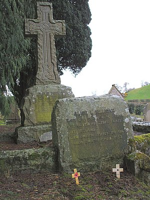 "Alice Milligan - The English portion of the inscription on Milligan's gravestone reads ""Alice L. Milligan She loved no other place but Ireland Born Omagh September 1865 Died Omagh April 1953""."