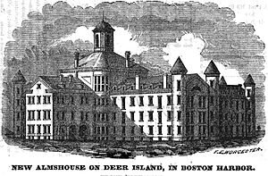 Deer Island (Massachusetts) - Almshouse, Deer Island, 1851