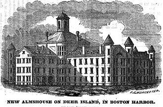 Deer Island (Massachusetts) - Almshouse, Deer Island, 1851