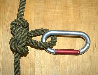 Butterfly loop Knot used to form a fixed loop in the middle of a rope