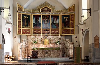 Church of St Clare, Liverpool - Image: Altar of St Clare's RC church, Liverpool