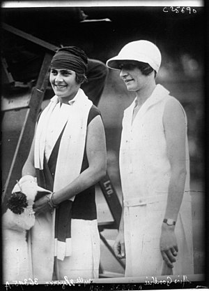 1926 Wimbledon Championships – Women's Singles - Lilí de Álvarez (left) and Kitty Godfree (right) at the 1926 Wimbledon Championships ladies singles final.