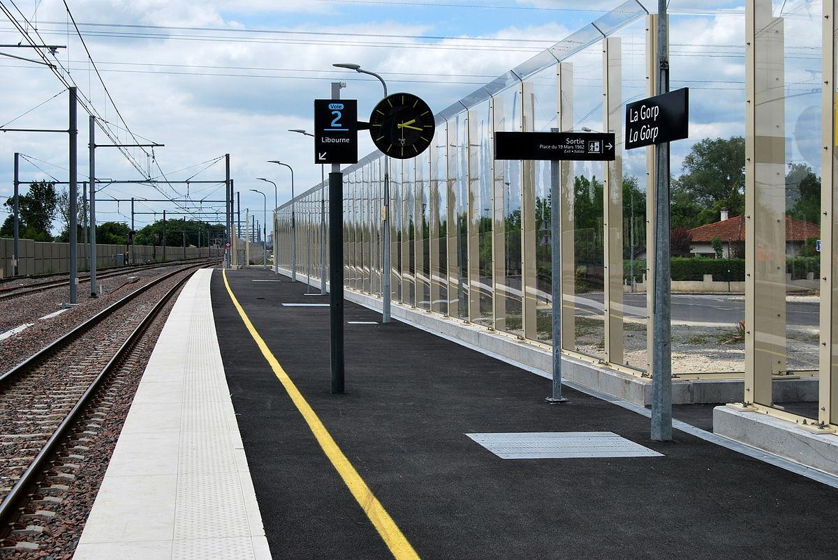 Gare de la gorp wikip dia for Exterieur quai gare de l est