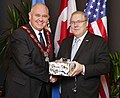 Ambassador Heyman with Mayor of Markham, Frank Scarpitti December 2014.jpg