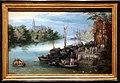 Ambrosius bruegel, paesaggio con rive di un fiume, 1650 ca.jpg