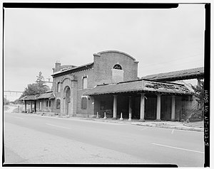 Ampere station - The 1907 train station depot, slowly falling apart.