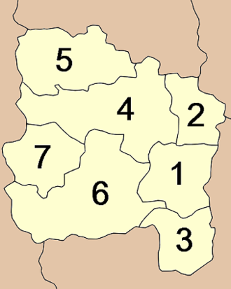 Ang Thong Province - Map of Amphoe