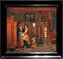 Amsterdam - Rijksmuseum 1885 - The Gallery of Honour (1st Floor) - Interior with Women beside a Linen Chest 1663 by Pieter de Hooch.jpg