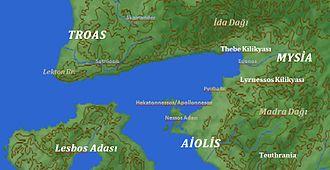 Edremit Gulf - Historic settlements in the Edremit gulf