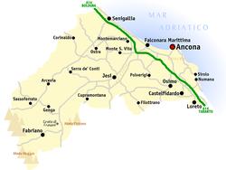 italien karta ancona Ancona (provins) – Wikipedia italien karta ancona