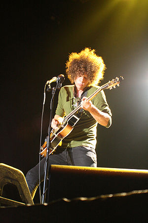 Andrew Stockdale of Wolfmother perforing on Ma...