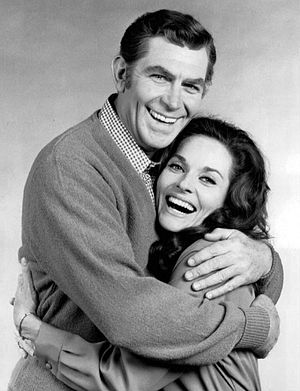 Lee Meriwether - Publicity photo with Andy Griffith and Lee Meriwether, as wife Lee, for The New Andy Griffith Show (1971). The series was short-lived.