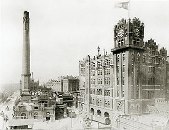 Anheuser-Busch Brewery - Image: Anheuser Busch Brewery Brew House and Boiler House, Ninth and Pestalozzi Streets