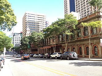 Ann Street, Brisbane - Ann Street, Central Station on the right
