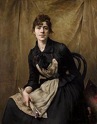 Anna Bilinska Anna Bilinska, Self-Portrait with Apron and Brushes, 1887, National Museum Cracow..jpg