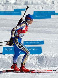 Olofsson under olympiska vinterspelen 2006 i Turin.