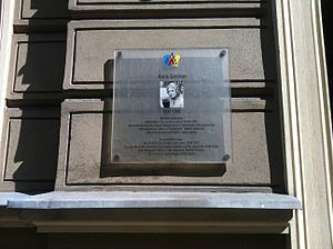 Anna German - Anna German plaque in Wrocław