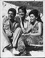 Annette Funicello on beach Frankie Avalon Dick Clark 1977.jpg