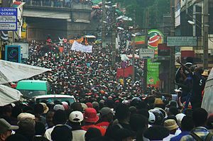 Marc Ravalomanana - Political protests in Antananarivo, January 2009