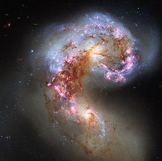 Antennae Galaxies interacting galaxies in the constellation Corvus