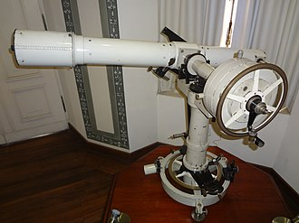 Quito Astronomical Observatory - Image: Antique Telescope at the Quito Astronomical Observatory 01