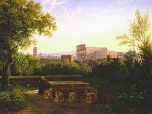 Antoine-Félix Boisselier - View of the Colosseum from the Orti Farnesiani