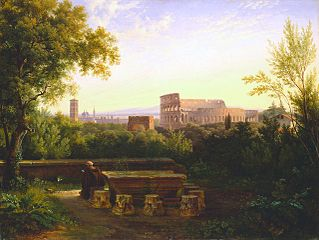 View of the Colosseum from the Orti Farnesiani