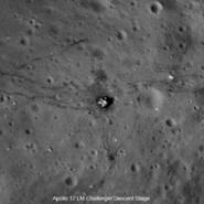 Apollo 17 LM Challenger LRO