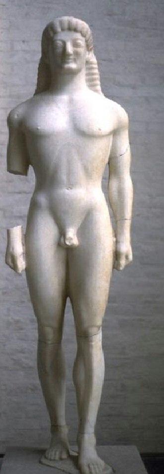 Tenea - Kouros of Tenea with the archaic smile