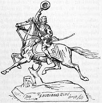 James E. Kelly (artist) - Image: Appletons' Sheridan Philip Henry Sheridan's Ride