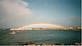Arc-en-ciel sur le port de Saint Pierre (3069952303).jpg