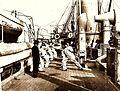 Archivo General de la Nación Argentina 1890 aprox, Fragata Presidente Sarmiento, primer Buque Escuela, Práctica de esgrima a bordo.jpg
