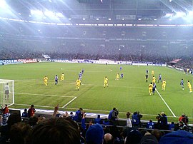 Arena Auf Schalke hosting Schalke 04 vs Dortmund in 2009