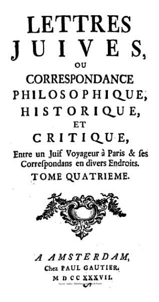 File:Argens - Lettres juives ou Correspondance philosophique, historique et critique, tome4.djvu