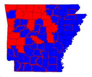 United States Senate election in Arkansas, 2004 - Image: Arkansas senate 2004