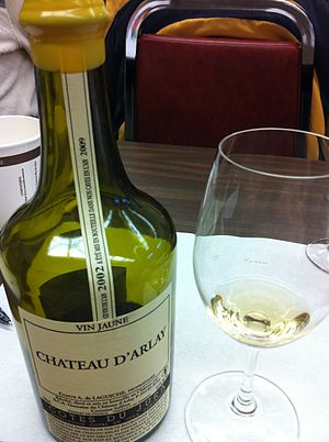 Vin jaune - A vin jaune from the Cotes du Jura AOC.