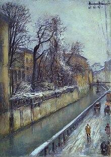 Lungo il Naviglio (1929) Collezioni d'arte della Fondazione Cariplo