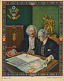 Arthur Szyk (1894-1951). Polish-American Fraternity series, Wilson and Paderewski (1939), Kraków.jpg