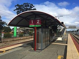 Ashfield railway station, Perth Railway station in Perth, Western Australia