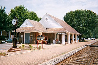 National Register of Historic Places listings in Hanover County, Virginia - Image: Ashland Amtrak(RF&P) Station Visitor's Center