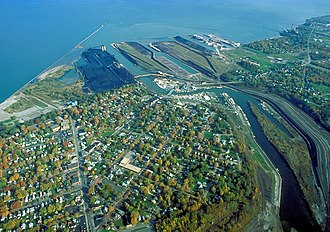 Ashtabula, Ohio - Aerial view of the port at Ashtabula