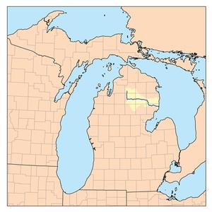 Au Sable River (Michigan) - Map of the Au Sable River