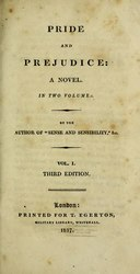 Jane Austen: Pride and prejudice: a novel: in two volumes