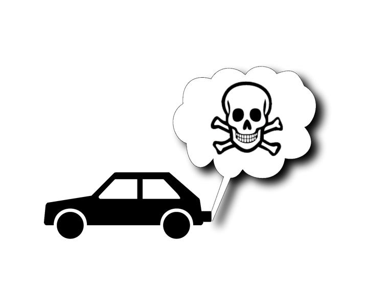 Datei:Auto Giftgas Feinstaub Abgase SMOG Totenkopf Verkehrswende Fahrverbot autofrei.png