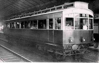 1903 Petrol Electric Autocar - Autocar at Filey Station