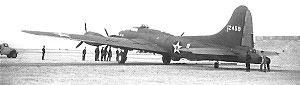 9th Bomb Squadron - Boeing B-17E Flying Fortress 41-2459, photographed at RAF Shallufa, Egypt in December 1941 on its way via Florida, Caribbean, Brazil, across the South Atlantic and Central Africa to join the 9th Bombardment Squadron