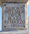 Badajoz – Obelisco a la Memoria del General Menacho – Placa conmemorativa.jpg